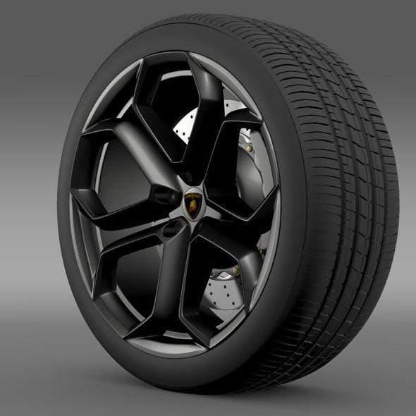 Lamborghini Aventador wheel - 3DOcean Item for Sale