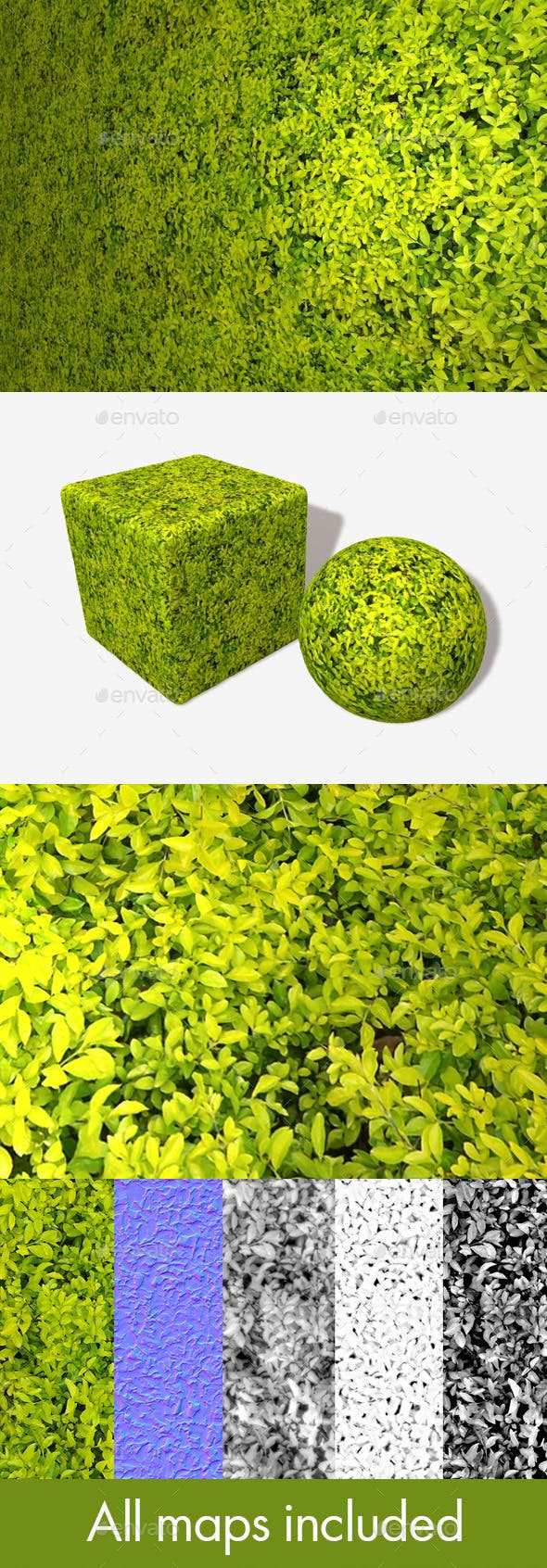 Small Bright Leaves Seamless Texture - 3DOcean Item for Sale