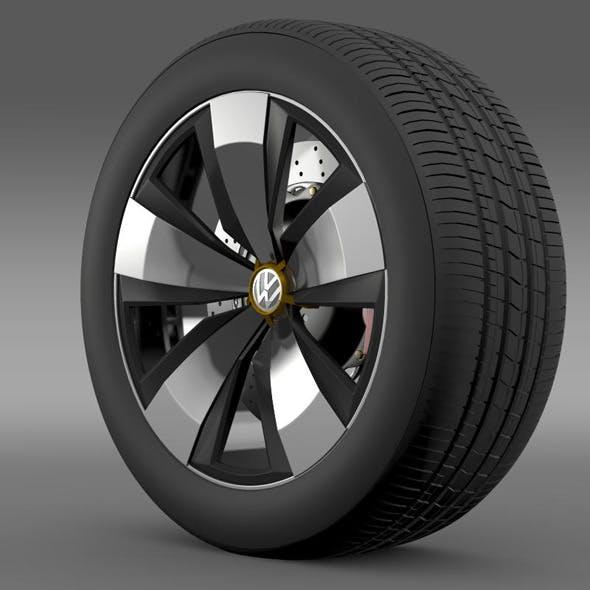 Volkswagen Beetle Dune wheel - 3DOcean Item for Sale