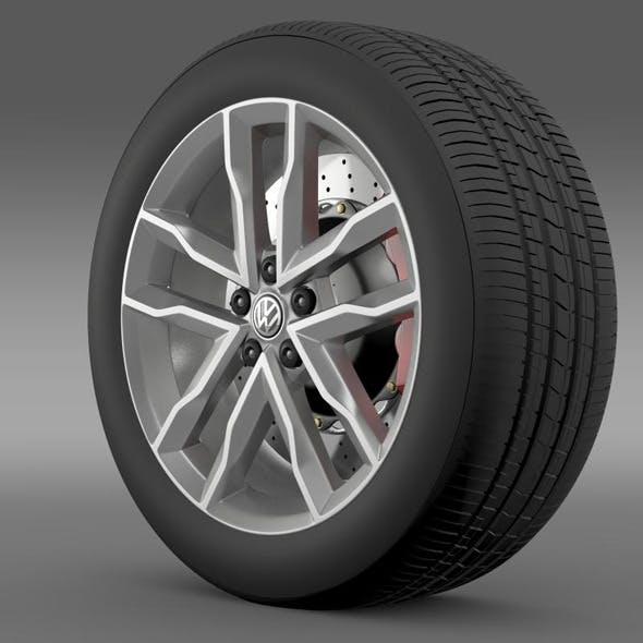 Volkswagen Polo TSI Bluemotion wheel - 3DOcean Item for Sale