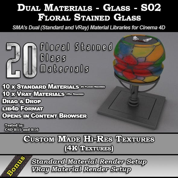 SMA's Dual Materials - Glass - S02 - Floral
