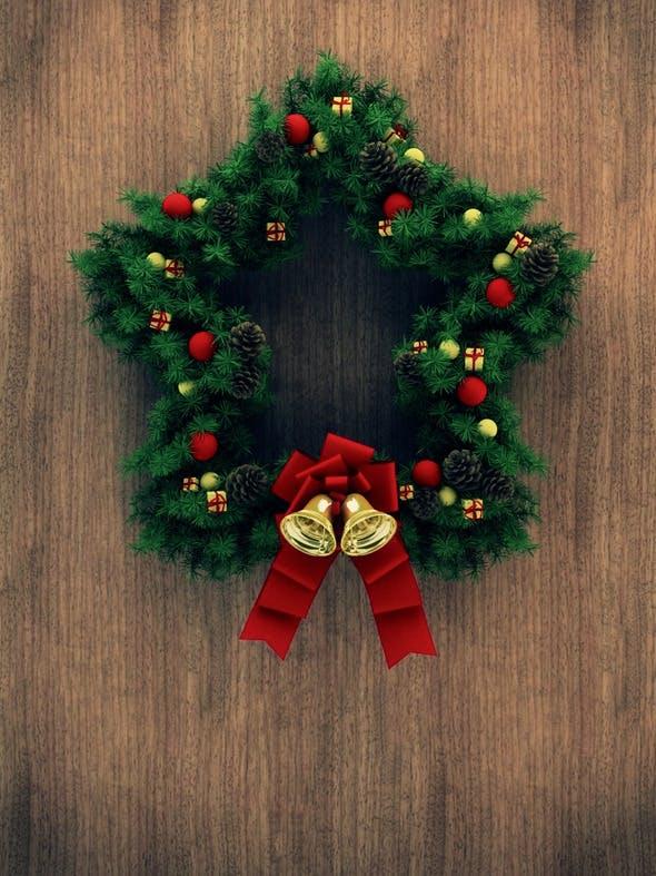 Christmas Door Decoration 03 - 3DOcean Item for Sale