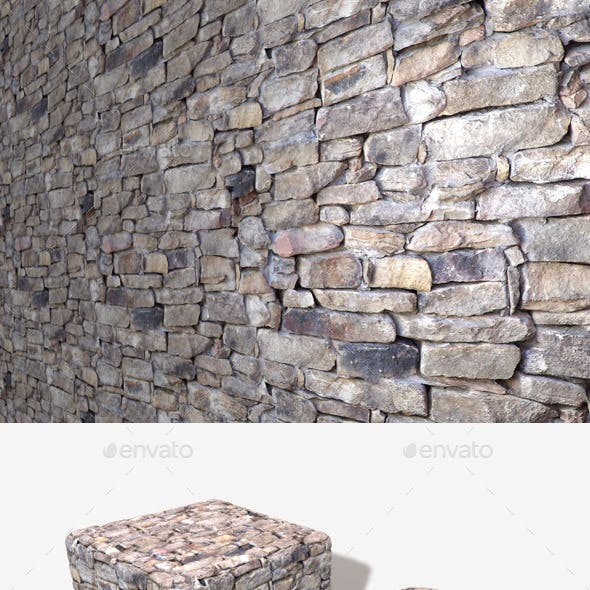 Traditional Rock Wall Seamless Texture
