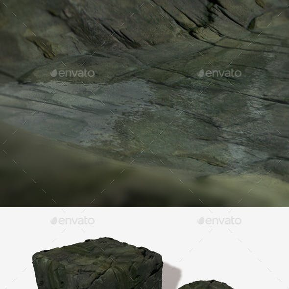 Wet Cliff Rocks Seamless Texture