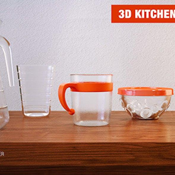 3D kitchen ware - Pack 1