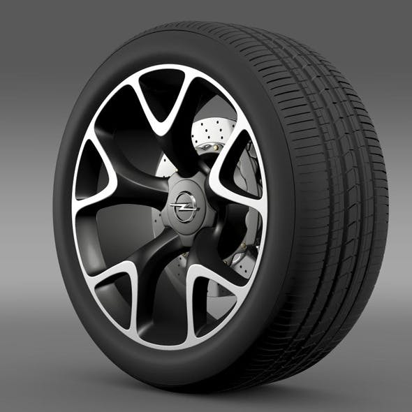 Opel Insignia OPC Concept wheel - 3DOcean Item for Sale