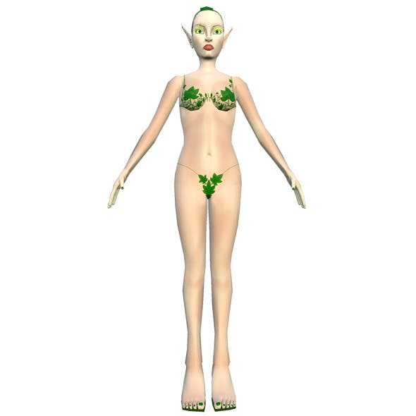 Girl Elf Lowpoly - 3DOcean Item for Sale