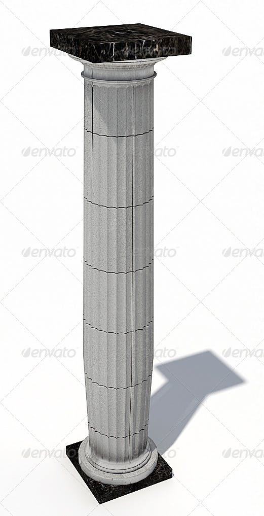 Greek Ionic Column  - 3DOcean Item for Sale