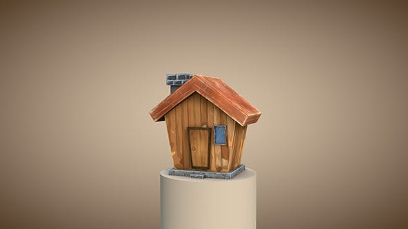 Low poly cartoon house - 3DOcean Item for Sale
