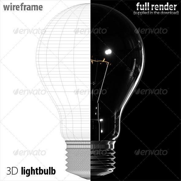 3D classic lightbulb