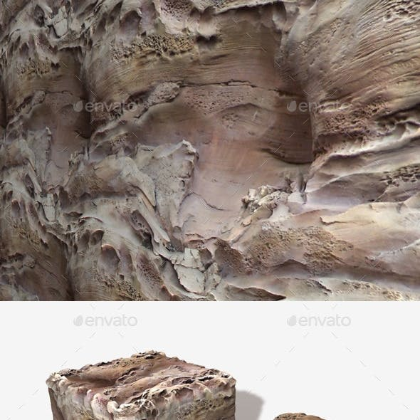 Underwater Volcanic Cliff Face Seamless Texture