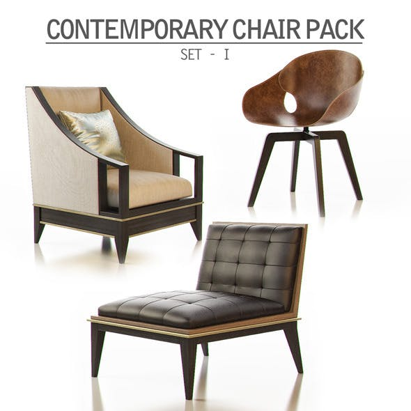 Contemporary Chair Pack - Set I - 3DOcean Item for Sale