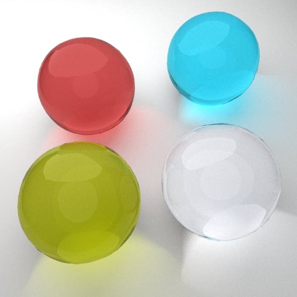 4 Glass Material for Blender  - 3DOcean Item for Sale