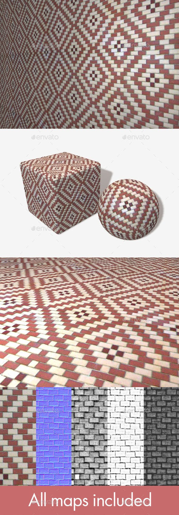 Brick Pattern Seamless Texture - 3DOcean Item for Sale