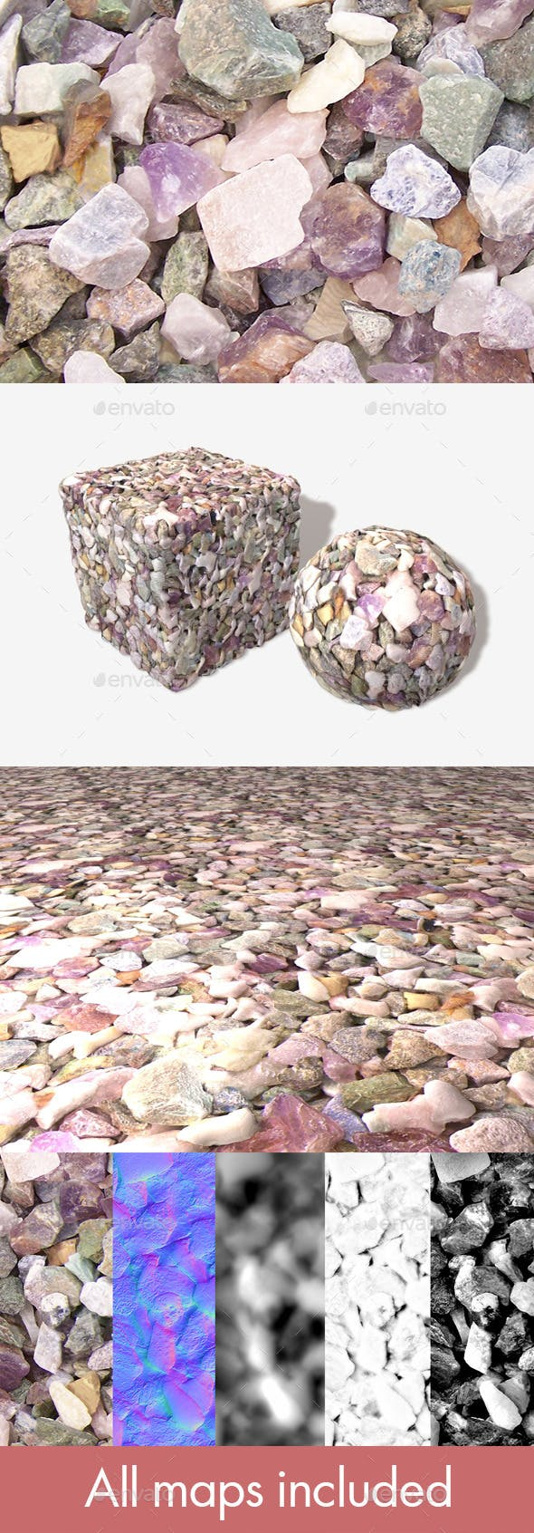 Colourful Stones Seamless Texture - 3DOcean Item for Sale