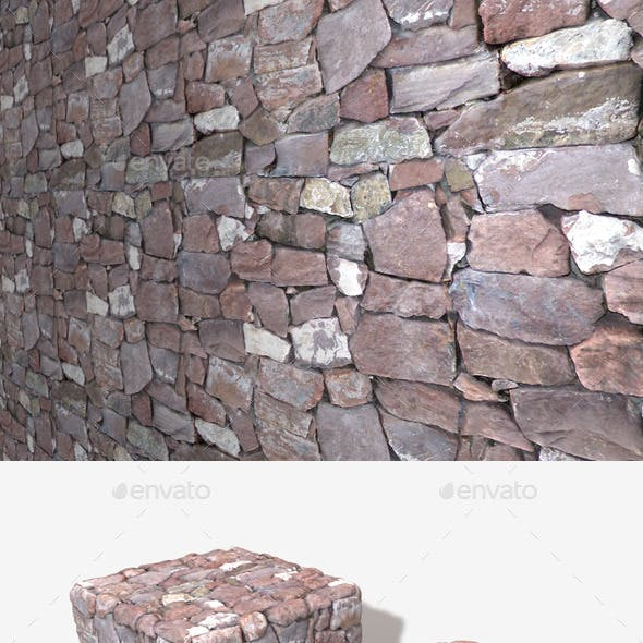 Purple Stone Wall Seamless Texture