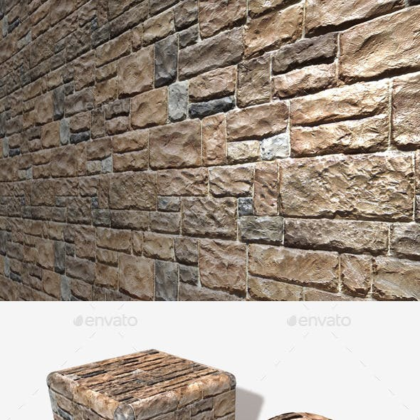 Shiny Rough Bricks Seamless Texture