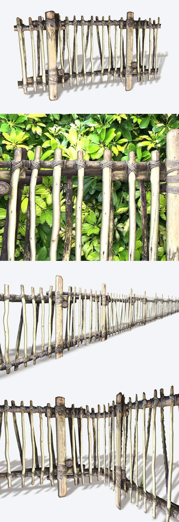 Jungle Fence Seamless Low Poly - 3DOcean Item for Sale