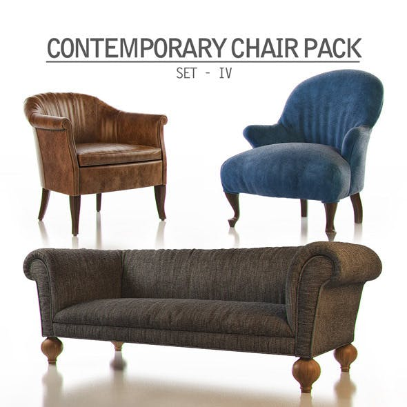 Contemporary Chair Pack - Set IV - 3DOcean Item for Sale