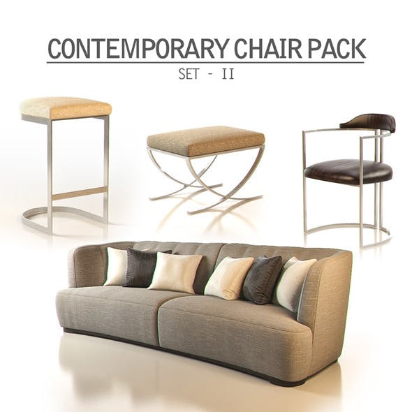 Contemporary Chair Pack - Set II - 3DOcean Item for Sale