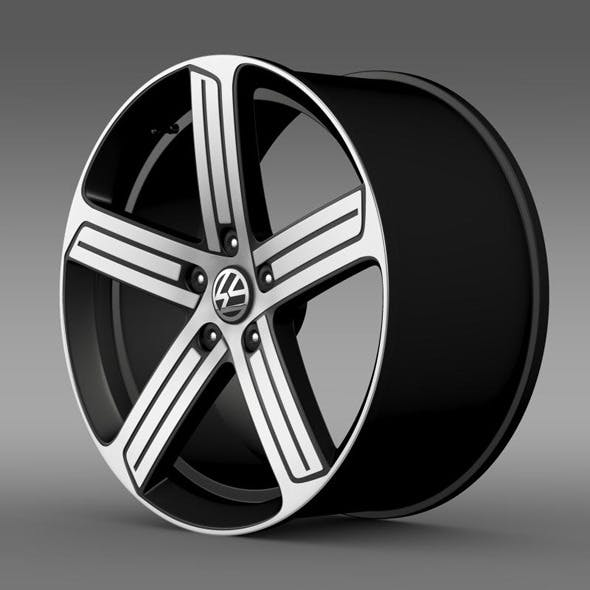 Volkswagen Golf R rim - 3DOcean Item for Sale
