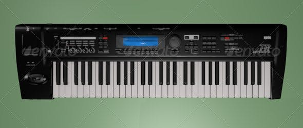 Keyboard synthesizer - 3DOcean Item for Sale