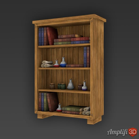 Low Poly Cartoon Potion Cupboard - 3DOcean Item for Sale