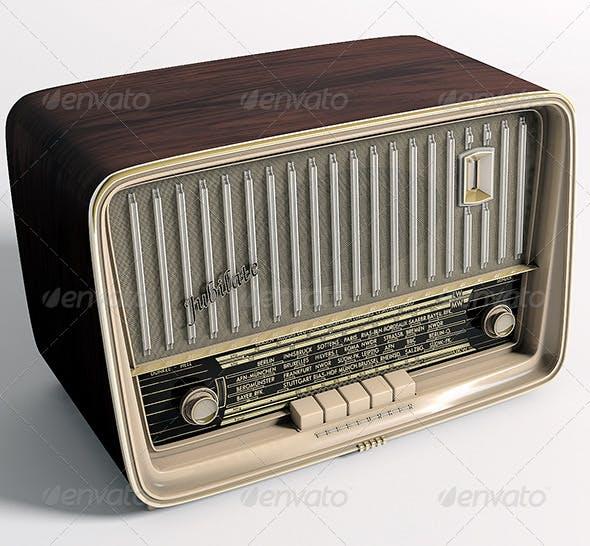 Radio Telefunken Jubilate - 3DOcean Item for Sale