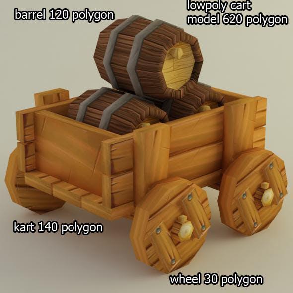 lowpolycart - 3DOcean Item for Sale