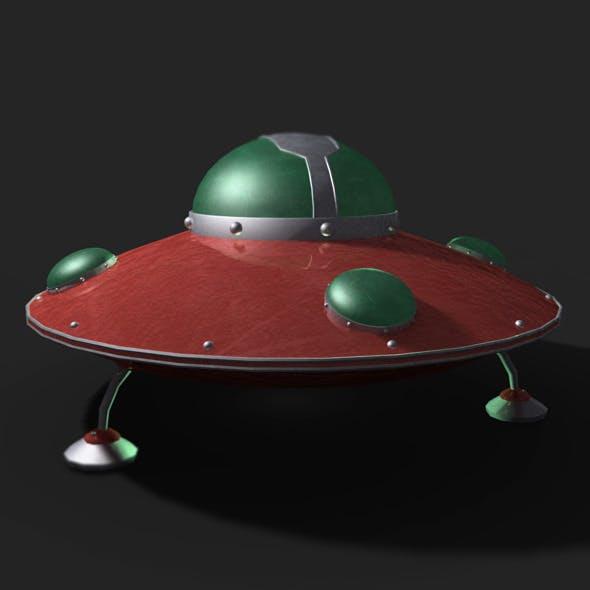 Retro UFO Model - 3DOcean Item for Sale
