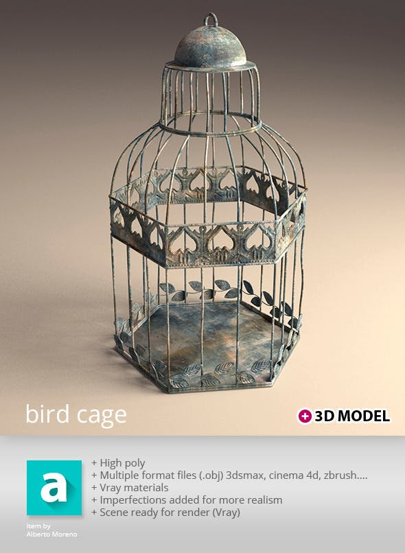 Bird Cage - 3DOcean Item for Sale