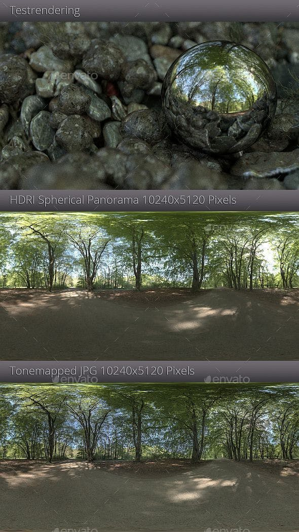 HDRI - Forest Trail - 3DOcean Item for Sale