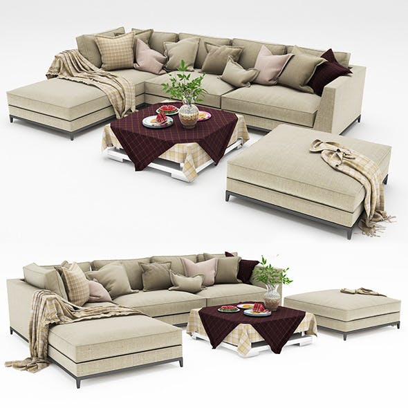 Sofa collection 10 - 3DOcean Item for Sale