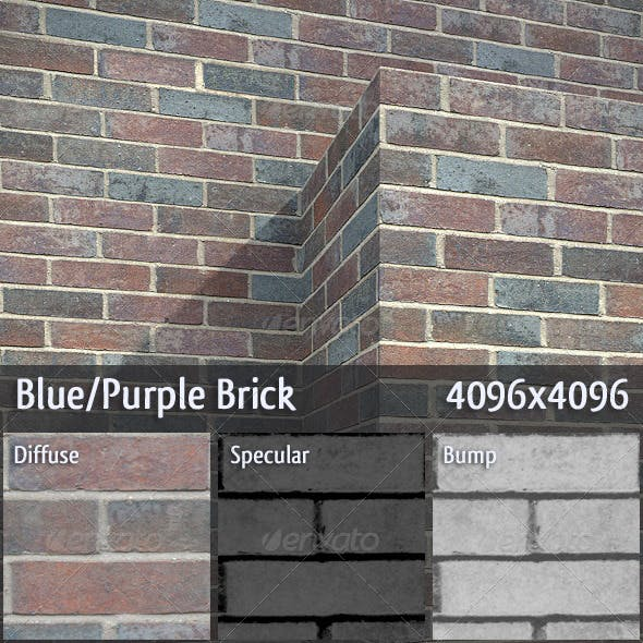 Blue/Purple Brick