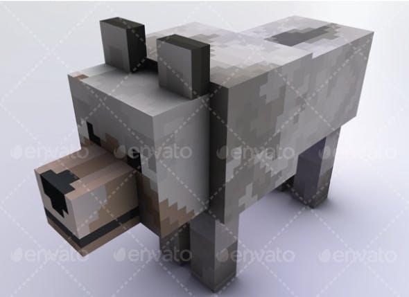 Wolf Minecraft - 3DOcean Item for Sale
