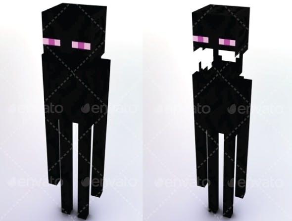 Enderman Minecraft - 3DOcean Item for Sale
