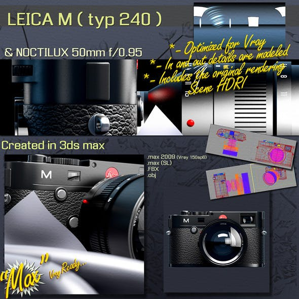 LEICA M (typ 240) - 3DOcean Item for Sale