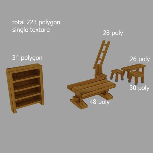 wooden stuff - 3DOcean Item for Sale
