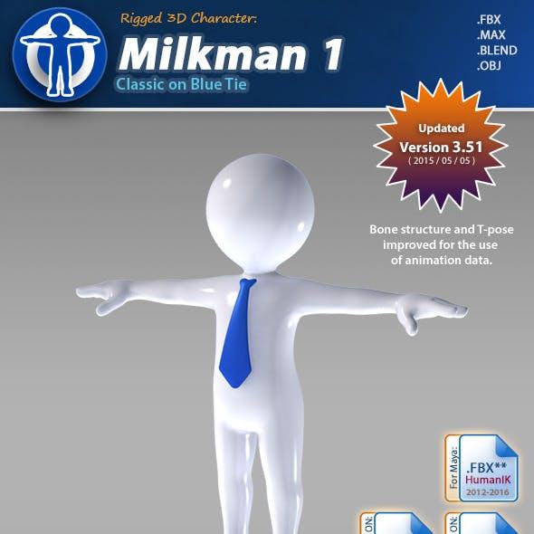 Milkman 1 - Classic on Blue Tie