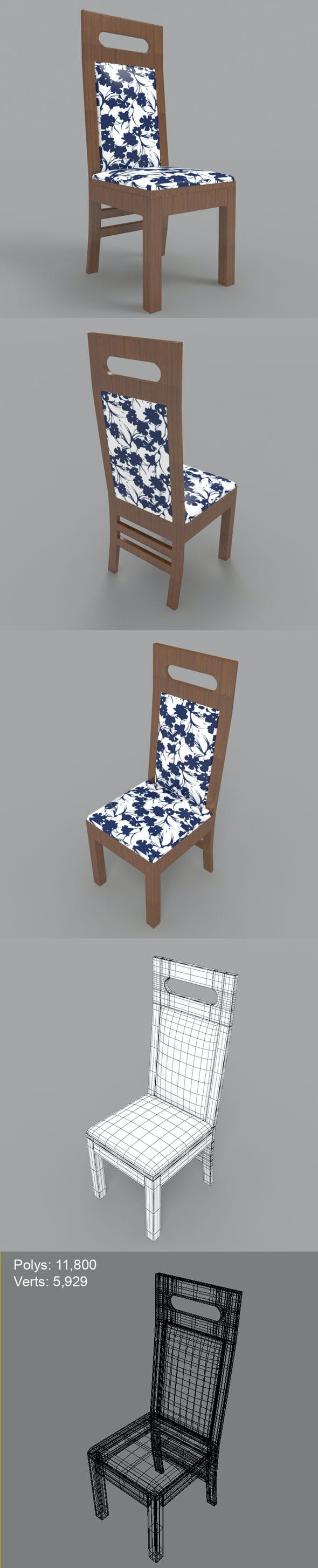 Dining Chair-3 - 3DOcean Item for Sale