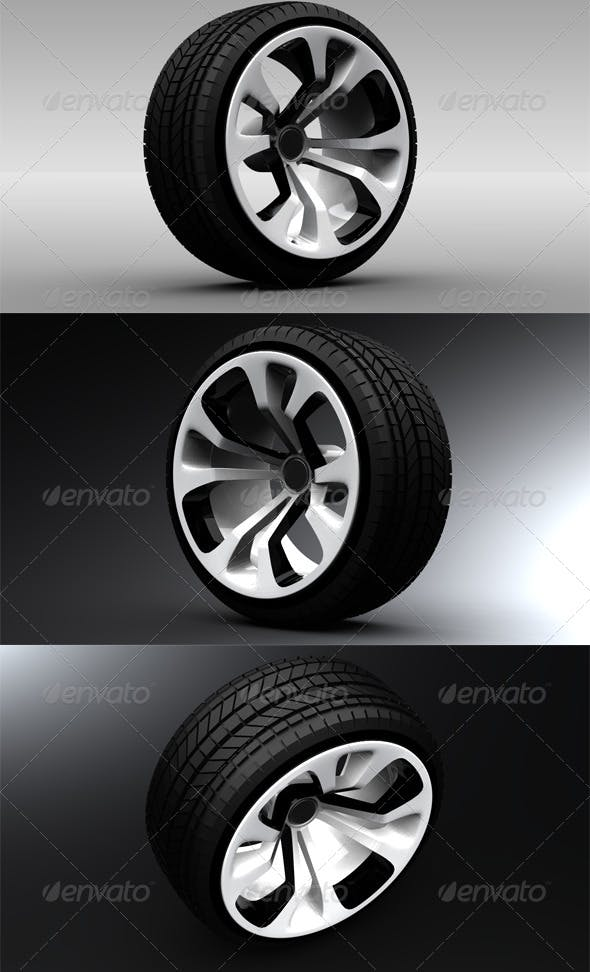 Car Wheel 2 - 3DOcean Item for Sale