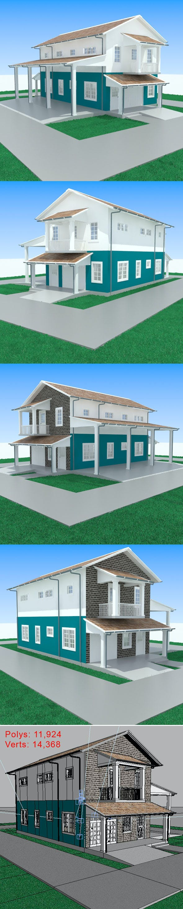 Apartment with garage-1 - 3DOcean Item for Sale