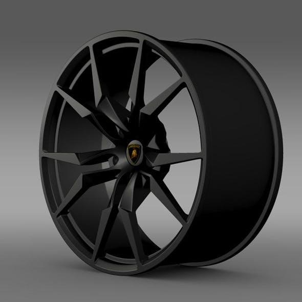 Lamborghini Aventador 50 AE rim - 3DOcean Item for Sale