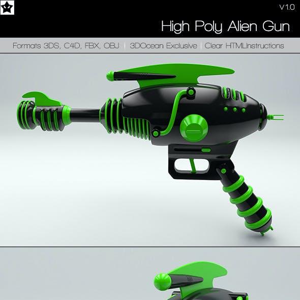 High Poly Alien Gun