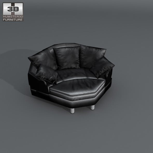 Space Big corner - Ekornes Stressless - 3D Model.
