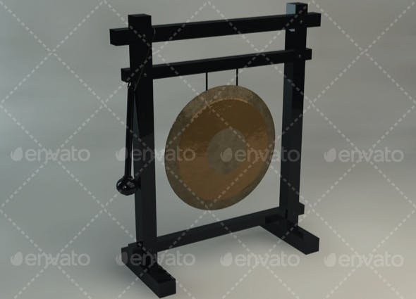 Gong - 3DOcean Item for Sale