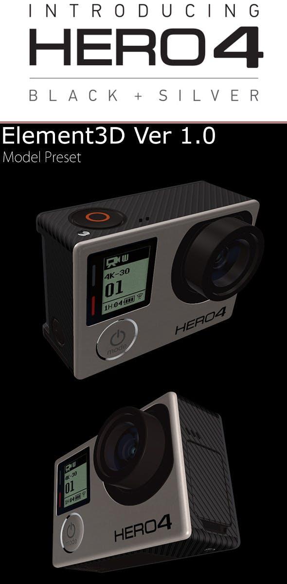 GoPro Hero4 Element3D - 3DOcean Item for Sale