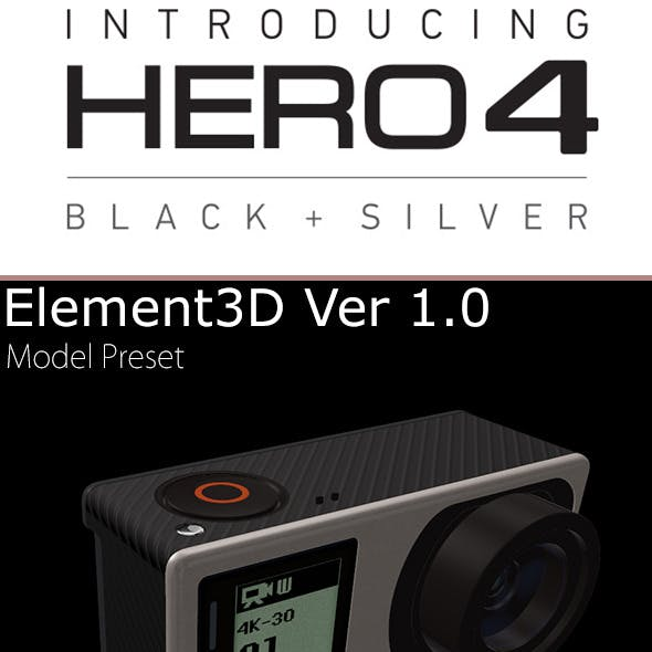 GoPro Hero4 Element3D