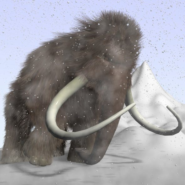 Cartoon mammoth RIGGED