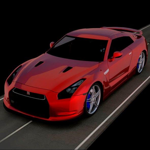 Nissan GT-R 3D Car Model